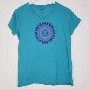 Columbia Aqua Mandala Tee Shirt